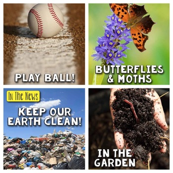 In The News- April Edition (butterflies & moths, Earth Day, Baseball, Plants)