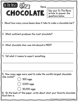 In The News- Chocolate Freebie