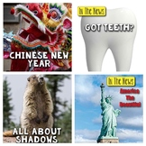 In the News- February Edition (Shadows, Symbols, Teeth, Chinese New Year)