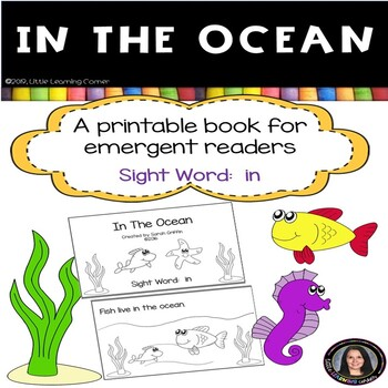 Sight Word Reader - In The Ocean -BW