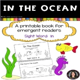 Sight Word Reader - In The Ocean - Decodable Book BW