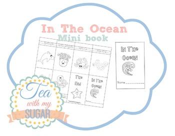In The Ocean Theme Mini Book