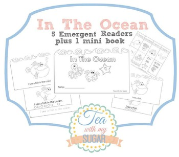 In The Ocean theme Emergent Reader plus mini book