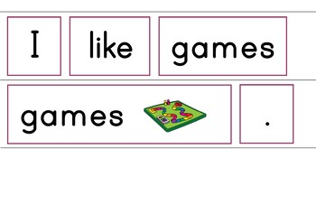 In The Playroom Easy Reader Patterned Sentences For Beginning Readers