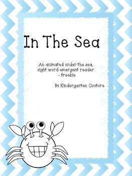 In The Sea -emergent reader freebie