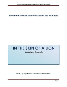 In The Skin of a Lion - Teacher Text Guide and Worksheets