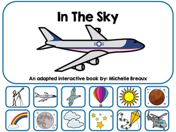 In The Sky Adapted & Interactive Book Special Education, SLP, Autism