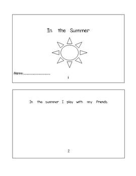 In The Summer Booklet + Worksheet