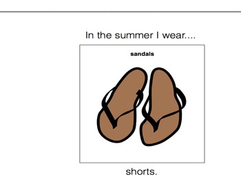 In The Summer I Wear-Adaptive Book (Autism/early Language Learners)