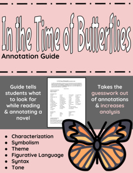 In The Time of Butterflies Annotation Guide