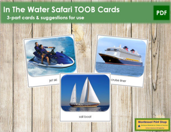 In The Water Safari Toob Cards - Montessori
