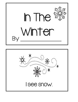 In The Winter - Emergent Reader