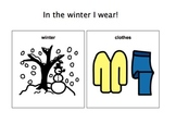 In The Winter I Wear-Adaptive Book (Autism/Early Language