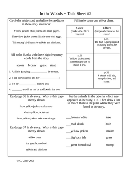 In The Woods Activity Sheets ~ Phonics Library ~ HM® Reading Program