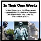 Figurative Language & Critical Thinking:  Lincoln,  Washington, King Mega Pack