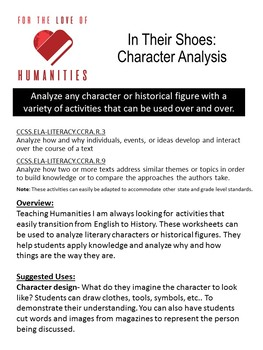 In Their Shoes: Character Analysis