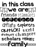 """""""In This Class We Are..."""" Poster FREEBIE"""