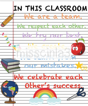 Classroom Decor - In This Classroom