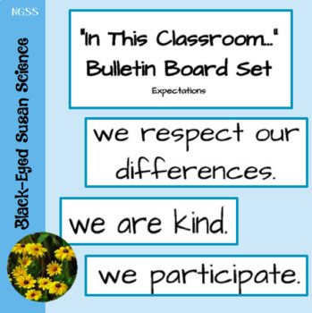 In This Classroom...Bulletin Board Set