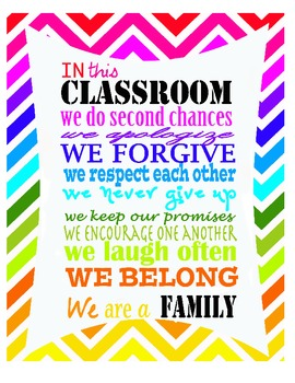 In This Classroom We - {Poster, Motivation, Class Decoration} | TpT