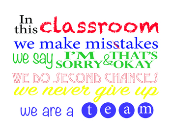 PRINTABLE POSTER In This Classroom