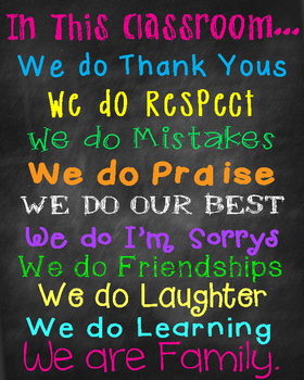 In This Classroom Poster- FREE!