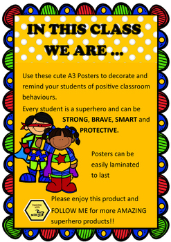 In This Classroom We Are... Positive Behaviour Anchor Charts / Posters