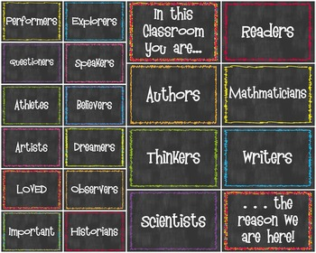 In This Classroom We Are .... Quick Bulletin Board