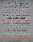 In This Classroom, We Do A Series of Unfortunate Events Poster