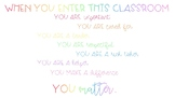 In This Classroom... You Matter Poster (Rainbow Style)