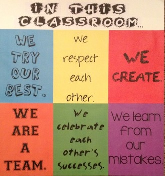 In This Classroom...poster