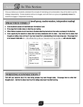 In This Section – Note Taking Activity