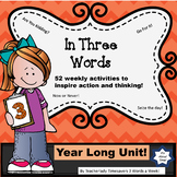In Three Words:  Weekly Three Word Phrases to Promote Action!