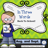 In Three Words:  Weekly Phrase Activities and Fun!