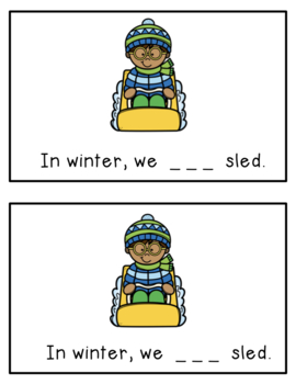 In Winter: A Differentiated Emergent Reader with Sight Words In, We, Can