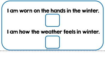 In Winter- Adapted Interactive Book {Autism, Early Childhood, Special Education}