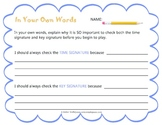 In Your Own Words: Key Signature and Time Signature