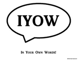 In Your Own Words Sign: Prevent Plagiarism