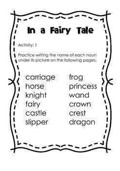 In a Fairy Tale Cut and Paste Activities