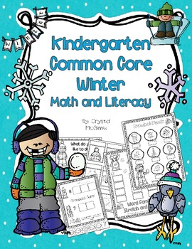 Winter NO PREP Printables! Kindergarten Common Core Math a
