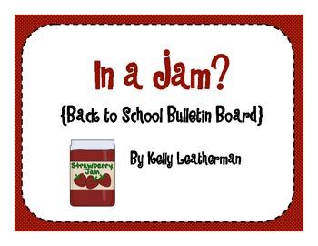 In a Jam? {Back to School Bulletin Board}