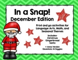 In a Snap! No Prep Activities for December