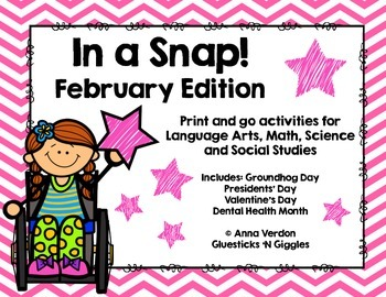 In a Snap! No Prep Activities for February