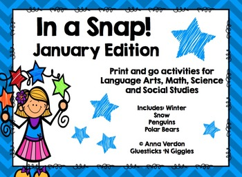 In a Snap! No Prep Activities for January