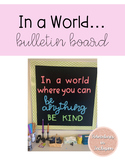 In a World Where you Can Be Anything - Growth Mindset Bull