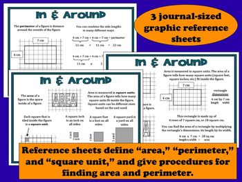 In and Around - area and perimeter task cards + printables (set A)