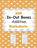 In and Out Boxes - Addition Worksheets