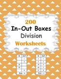 In and Out Boxes - Division Worksheets