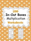 In and Out Boxes - Multiplication Worksheets