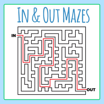 In and Out Complex Mazes Clip Art Set for Commercial Use